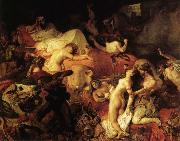 Eugene Delacroix The Death of Sardanapalus oil painting picture wholesale