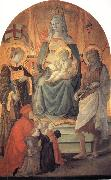 Fra Filippo Lippi The Madonna and Child Enthroned with Stephen,St John the Baptist,Francesco di Marco Datini and Four Buonomini of the Hospital of the Ceppo of Prato oil painting picture wholesale
