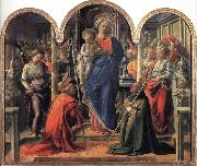 Fra Filippo Lippi Madonna and Child with Angels,St Frediano and St Augustine oil painting picture wholesale