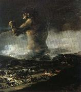 Francisco Goya The Colossus or Panic oil