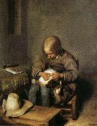 Gerard Ter Borch Boy Catching Fleas on His Dog oil painting picture wholesale