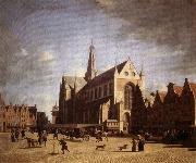 Gerrit Bakhuizen Great Market in Haarlem oil painting artist