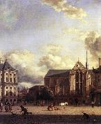 HEYDEN, Jan van der Dam Square, Amsterdam oil painting reproduction