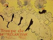 Henri  Toulouse-Lautrec Miss Eglantine's Troupe oil painting picture wholesale