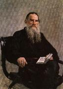 Ilya Repin Portrait of Leo Tolstoy oil painting picture wholesale