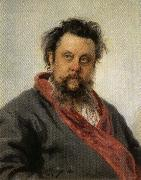 Ilya Repin Portrait of Modest Mussorgsky oil painting picture wholesale
