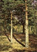 Ivan Shishkin Pine Wood Illuminated by the Sun oil painting artist