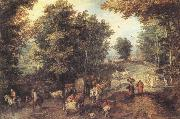 Jan Brueghel The Elder Landscape with a Ford oil painting artist