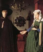 Jan Van Eyck Details of Portrait of Giovanni Arnolfini and His Wife oil painting picture wholesale