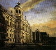 Jan van der Heyden The City Hall in Amsterdam oil painting artist