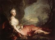 Jean Marc Nattier Marie Adelaide of France Represented as Diana oil painting picture wholesale