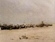 Lepic Ludovic Napoleon La Plage deBerck au pliant oil painting picture wholesale