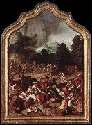 Lucas van Leyden ipping of the Golden Calf oil painting picture wholesale