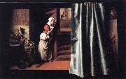 MAES, Nicolaes Eavesdropper with a Scolding Woman oil painting picture wholesale