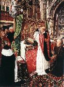 MASTER of Saint Gilles The Mass of St Gilles oil painting artist