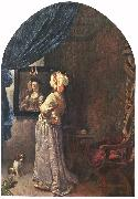 MIERIS, Frans van, the Elder Woman before the Mirror oil painting picture wholesale