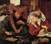Marinus van Reymerswaele A Moneychangr and His Wife oil painting artist