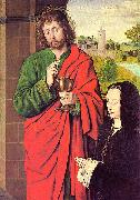 Master of Moulins Anne of France presented by Saint John the Evangelist oil painting picture wholesale