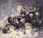 Nicolae Grigorescu Pansies oil painting picture wholesale