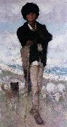 Nicolae Grigorescu Young Shepherd with his Dog oil painting picture wholesale
