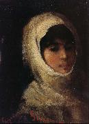Nicolae Grigorescu Girl with White Veil oil painting picture wholesale