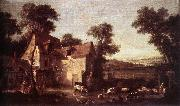 OUDRY, Jean-Baptiste Farmhouse oil painting picture wholesale