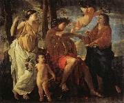 POUSSIN, Nicolas The Inspiration of the Epic Poet oil painting picture wholesale