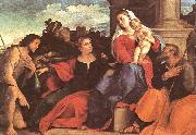 Palma Vecchio Sacred Conversation oil painting reproduction
