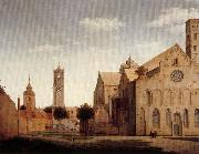 Pieter Jansz Saenredam St Mary's Square and St Mary's Church at Utrecht oil