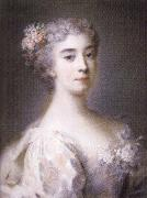 Rosalba carriera Portrait of Anna Sofia Enrichetta of Modena oil painting artist