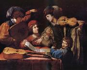 SPADA, Lionello Un concert du musique oil painting picture wholesale