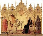 Simone Martini Annunciation with Two Saints and Four Prophets oil painting picture wholesale