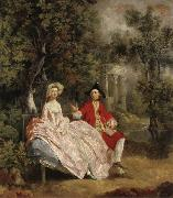Thomas Gainsborough Conversation in the Park oil painting picture wholesale