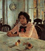 Valentin Aleksandrovich Serov Girl With Peaches oil painting artist