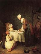 jean-Baptiste-Simeon Chardin Grace Before Dinner oil painting picture wholesale