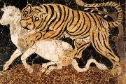 unknow artist Tiger Attacking a Bull oil painting picture wholesale