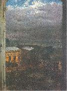 Adolph von Menzel The Anhalter Railway Station by Moonlight oil