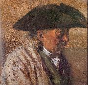 Adolph von Menzel Peasant with a Three-Cornered Hat oil