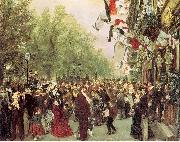 Adolph von Menzel William I Departs for the Front, July 31, 1870 oil