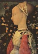 Antonio Puccio Called Pisanello Portrait of Ginevra d'Este (mk05) oil