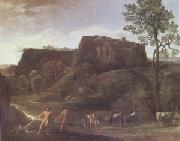 Domenichino Landscape with Hercules and Achelous (mk05) oil painting picture wholesale