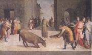 Domenico Beccafumi St Anthony and the Miracle of the Mule (mk05) oil