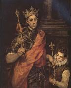 El Greco St Luis King of France with a Page (mk05) oil painting picture wholesale