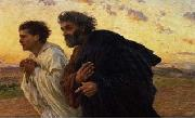 Eugene Burnand The Disciples Peter and John Running to the Sepulchre on the Morning of the Resurrection, c.1898 oil