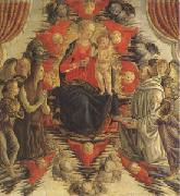 Francesco Botticini The Virgin and Child in Glory with (mk05) oil