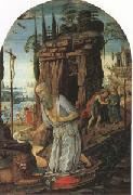Jacopo di Arcangelo called jacopo del sellajo st Jerome in he Desert (mk05) oil