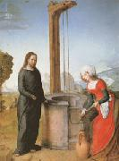 Juan de Flandes Christ and the Woman of Samaria (mk05) oil painting artist