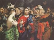 Lorenzo Lotto Christ and the Woman Taken in Adultery (mk05 oil painting artist