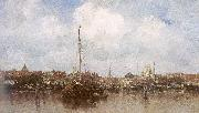 Maris, Jacob Dutch Town on the Edge of the Sea oil painting picture wholesale