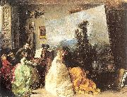 Marques, Francisco Domingo Interior of Munoz Degrain's Studio in Valencia oil painting picture wholesale